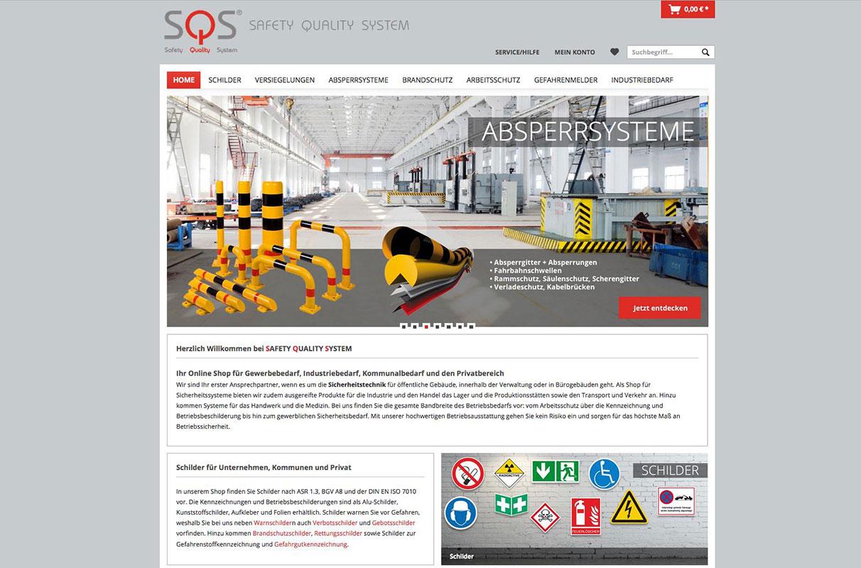 SQS: Sicherheitstechnik Arbeitsschutz & Kommunalbedarf